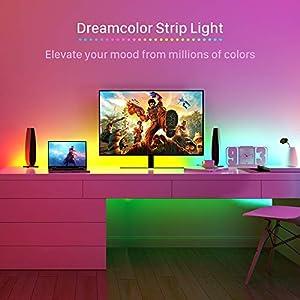 DreamColor LED Strip Lights, MINGER 9.8FT LED Lights Sync to Music, Waterproof RGB Rope Light APP Control, Flexible 5050 LED Tape Lighting Kit for Bedroom, Desk, Gaming, TV, 12V UL Listed Power Supply