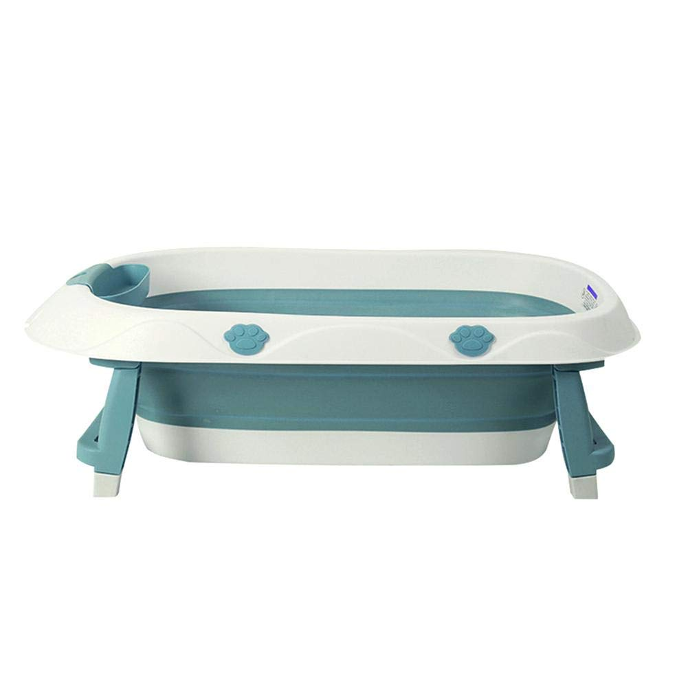 Baby Folding Bathtub Infant Outdoor Travel Collapsible Basin Portable Space-Saving Bath Tub Foldable Washbasin Bathing Tub Home Accessories(Blue) by Zerodis