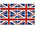 "4 - 3""x1.5"" Great Britain union jack UK British vinyl sticker united kingdom"
