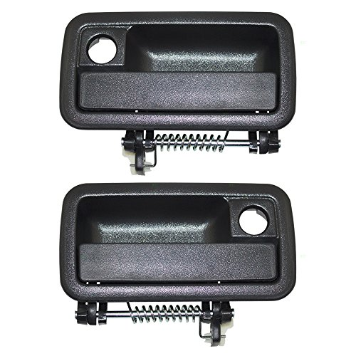 Pair Set Outside Exterior Textured Door Handles Replacement for Dodge Dakota Pickup Truck 55027509 55027508 (Pickup Dakota Dodge Door)