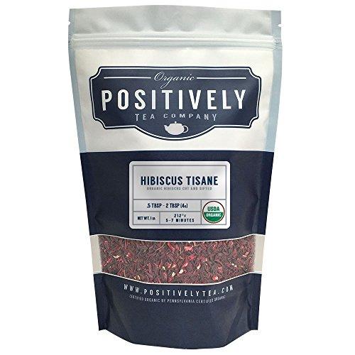 Positively Tea Company, Organic Hibiscus Tisane, Herbal Tea, Loose Leaf, USDA Organic, 1 Pound Bag
