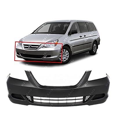 MBI AUTO - Primered, Front Bumper Cover Fascia for 2005 2006 2007 Honda Odyssey Van 05 06 07, HO1000222