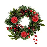 Promisen Halloween Garland, Pomegranate Fruit Door Wreath Door Wall Ornament Christmas Party Decoration (As Shown)