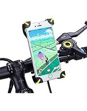 Soporte de bicicleta para celular, WOTOW Abrazadera de cuna ajustable para teléfono inteligente universal 360 grados Soporte de bicicleta ciclismo para manillar de bicicleta rotativo para teléfono celular GPS de 3.5-7 pulgadas para iPhone Samsung Samsung Galaxy HTC, Regalo de Navidad