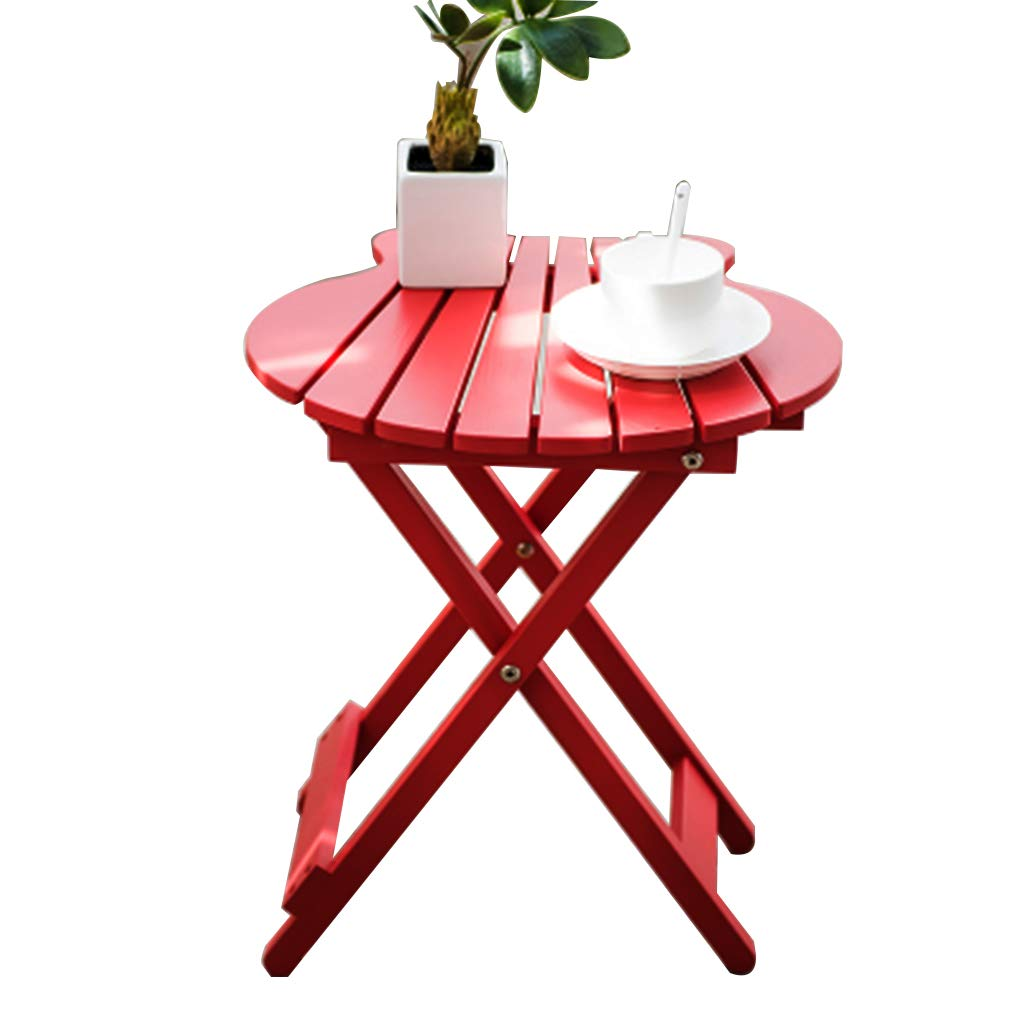 Red 434020cm Coffee Tables Coffee Table Wooden Sofa Side Table Green Folding Simple Coffee Table Coffee Table (color   bluee, Size   43  40  20cm)