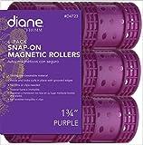 """Diane Snap On Magnetic Roller, Purple, 1.75"""", 6/bag"""
