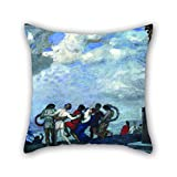 Slimmingpiggy 20 X 20 Inches / 50 By 50 Cm Oil Painting Franz Von Stuck - The Dance Pillow Covers,double Sides Is Fit For Home,living Room,play Room,outdoor,bench,seat