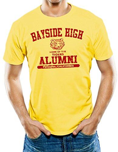 Universal Apparel Men's Bayside High Alumni T-Shirt Large Yellow (Alumni Tee)