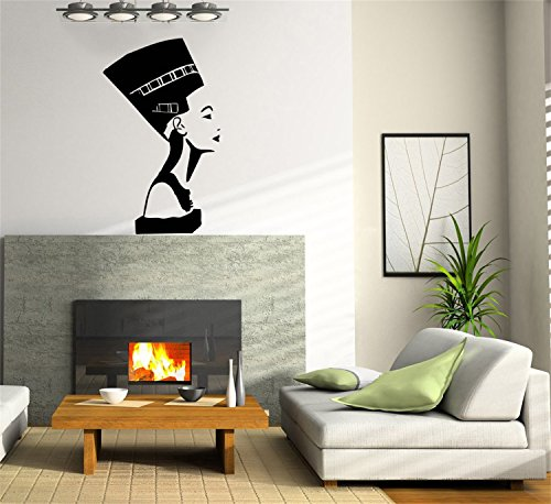 [YINGKAI Egyptian Symbol Nefertiti Living Room Vinyl Carving Wall Decal Sticker for Home Window Decoration] (Monte Carlo Decal)