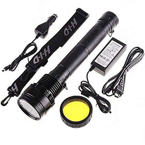 700mAh Torch Flashlight SOS for Outdoor 85W 8500 Lumens 3 Mode - Black (Xenon Flashlight Torch)