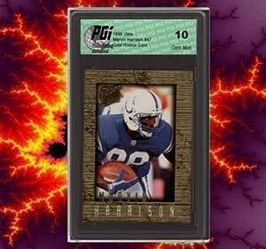 1996 Ultra Gold Marvin Harrison Rookie Card PGI 10