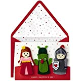 Hallmark Signature Valentine's Day Card for Kids with Finger Puppets (Princess, Knight, Dragon)