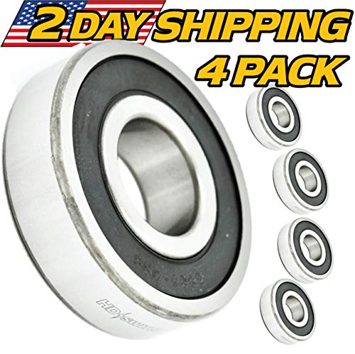 - (4 Pack) Hustler 783555, Jacobsen 552184 Spindle Bearings - High Temp Grease - OEM Upgrade - HD Switch