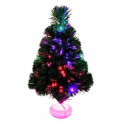 Árbol de Navidad de luz 45cm LED colorido luminoso Fibra Óptica Festival de Navidad Decoración Regalo, Colorido