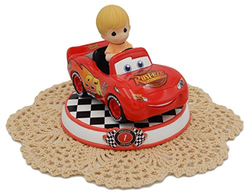 Precious Moments Disney Showcase Cars Collection Resin Figurine with Westbraid Doily (#1, Lightning McQueen, 164431)