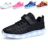 VIIRUN Little/Big Kids LED Light Up Running Shoes Boys and Girls USB Charging Flashing Sneakers For Christmas ¡
