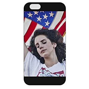 UniqueBox - Customized Personalized Black Frosted iPhone 6 5.5 Case, American Famous Singer Lana Del Rey iPhone 6 Plus case, Only fit iPhone 6+ (5.5 Inch)