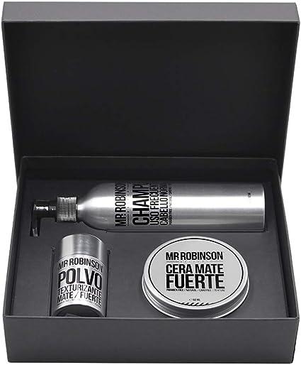 Pack regalo para hombre: champú, cera y polvos para peinado | Kit de cuidado personal para hombre Mr. Robinson Belfort | Cuidado para el pelo profesional | Sin parabenos: Amazon.es: Belleza