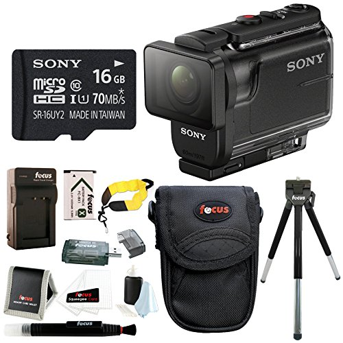 Sony HDR-AS50/B Full HD 1080p Action Cam with 16GB MicroSD C