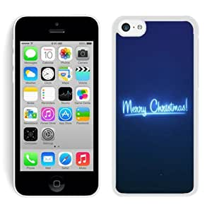 Personalized Hard Shell Iphone 5C Case Merry Christmas White iPhone 5C Case 91