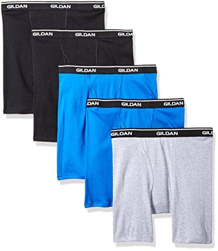 Gildan Platinum 5-Pack Boxer Brief Royal Assorted Large