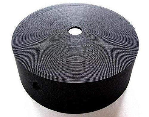 織ゴム平ゴム 手芸裁縫洋裁縫製ゴム黒 70mm巾×30m 日本製   B00BM7EBN2