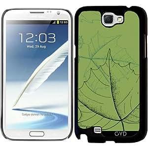 Funda para Samsung Galaxy Note 2 (GT-N7100) - Hojas by hera56
