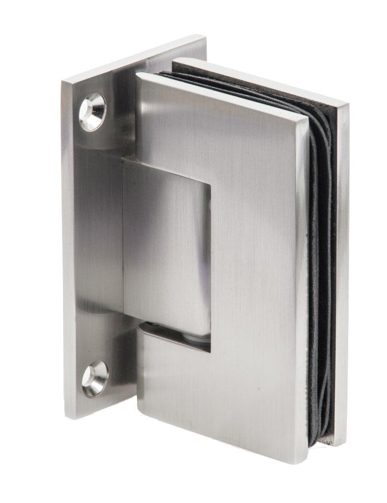 Dynasty Hardware Wall to Glass Frameless Shower Door Hinge in ...