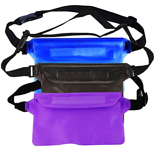 - MyLifeUNIT Waterproof Pouch Set for Snorkeling, Adjustable Dry Pouch with Waist Strap for Swimming Boating (Pack of 3)