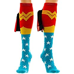 Wonder Woman Cape Knee High Socks 1 x 1in