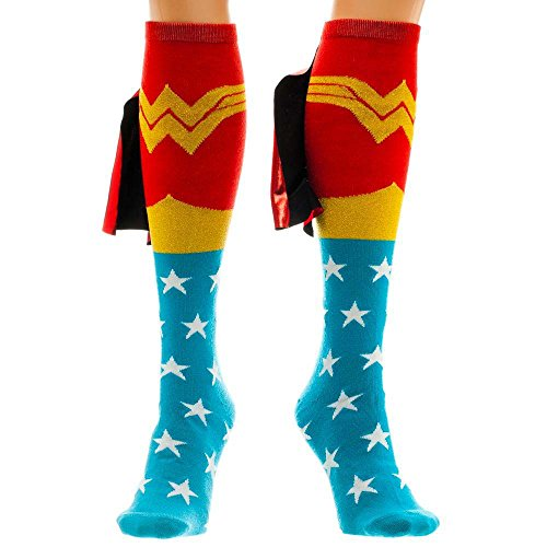 Wonder Woman Cape Knee High Socks 1 x (Anime Wonder Woman)
