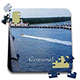 "Image of Entering Cozumel Mexico Port Puzzle is a fun and enjoyable way to pass the time. This 70 piece jigsaw puzzle measures 10"" x 10"" when assembled and features a back stand for display. Allowing you the choice to leave and display your f..."