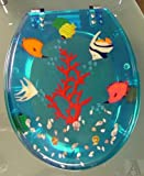 Tropical Fish Bathroom Lucite Hard Toilet Seat