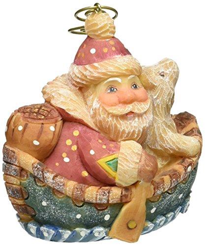 - G. Debrekht Boater Santa Figurine Ornament