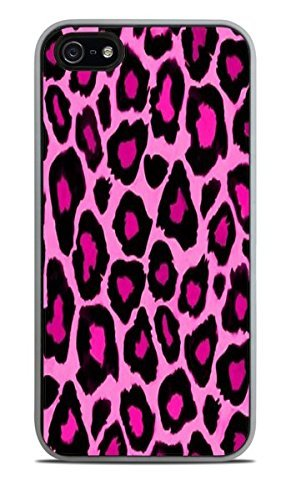 Strawberry Lemonade Cheetah Print White Silicone Case for iPhone 5 / - Charger Cheetah 5s Iphone