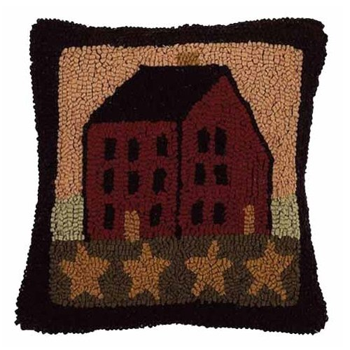 (Home Collection by Raghu Saltbox House Nutmeg Pillow, 14 by 14