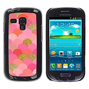 LOVE FOR Samsung Galaxy S3 MINI 8190 Gold Bling Glitter Leopard Pattern Fur Personalized Design Custom DIY Case Cover