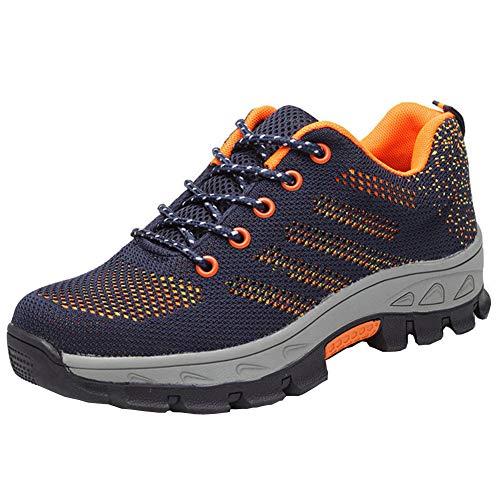 Para Trabajo Ligeras Hombre Azul De 35 Comodas Marino Calzado Seguridad 46 Zapatillas Antideslizante ROSxpwpn