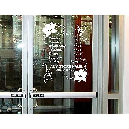 StickerLoaf Brand STORE HOURS CUSTOM WINDOW DECAL BUSINESS SHOP Storefront VINYL DOOR SIGN COMPANY lawyer medical office florist sandwich gym grocery  sc 1 st  Amazon.com & Custom Office Door Signs: Amazon.com