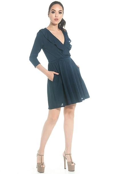 dfd27de72 Sarah BUSTANI-SE0275-VESTIDO-AZUL-ME  Amazon.com.mx  Ropa
