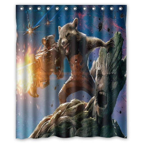 Personalized Custom Fashion Design Guardians Of The Galaxy Shower Curtain Bathroom Decoration Mildew Waterproof Polyester Fabric Shower Curtains 60