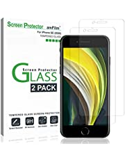 amFilm (2 Pack) Screen Protector Glass for iPhone SE 2020, iPhone 8, iPhone 7, iPhone 6S, and iPhone 6 - Tempered Glass Screen Protector Film for Apple iPhone SE (2020)