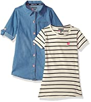 Limited Too Toddler Girls' Dress With Sweater Or Jacket (More Styles Available), Light Blue Denim_3, 2T