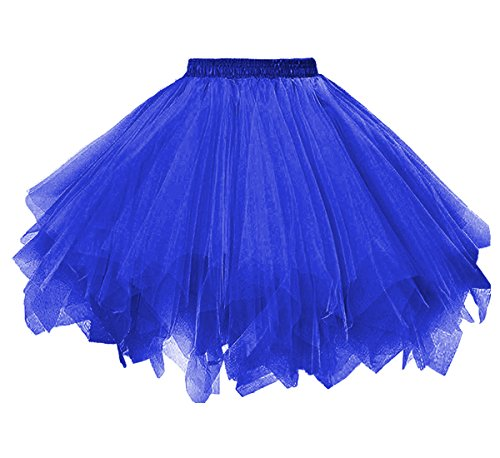 Dressever Vintage 1950s Short Tulle Petticoat Ballet Bubble Tutu Royal Blue XXLarge/XXX-Large