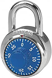 Combination Padlock, Center, Blue