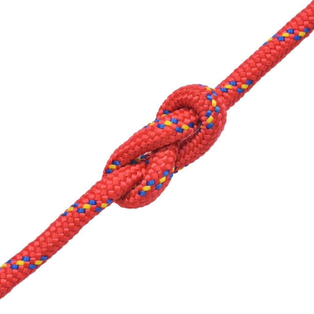 Festnight Cuerda Marina Color de Rojo Material de Polipropileno 10mm x 50m