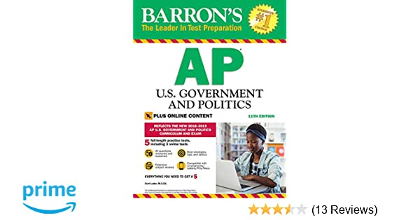 Barron's AP U S  Government and Politics with Online Tests