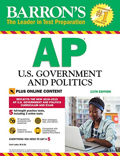 Pdf Teen Barron's AP U.S. Government and Politics with Online Tests