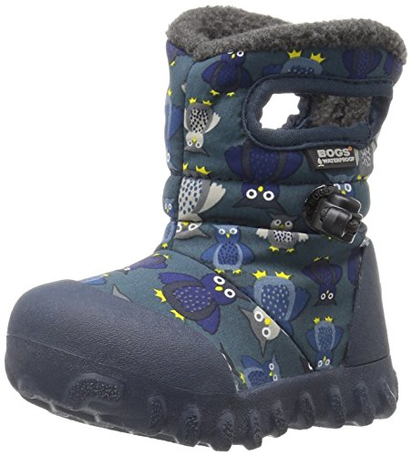 Bogs Baby B-MOC Puff Owl Winter Snow Boot (Toddler), Navy