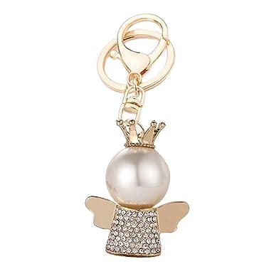Amazon.com: Qinlee Charm Pearl Little Angel - Llavero de ...
